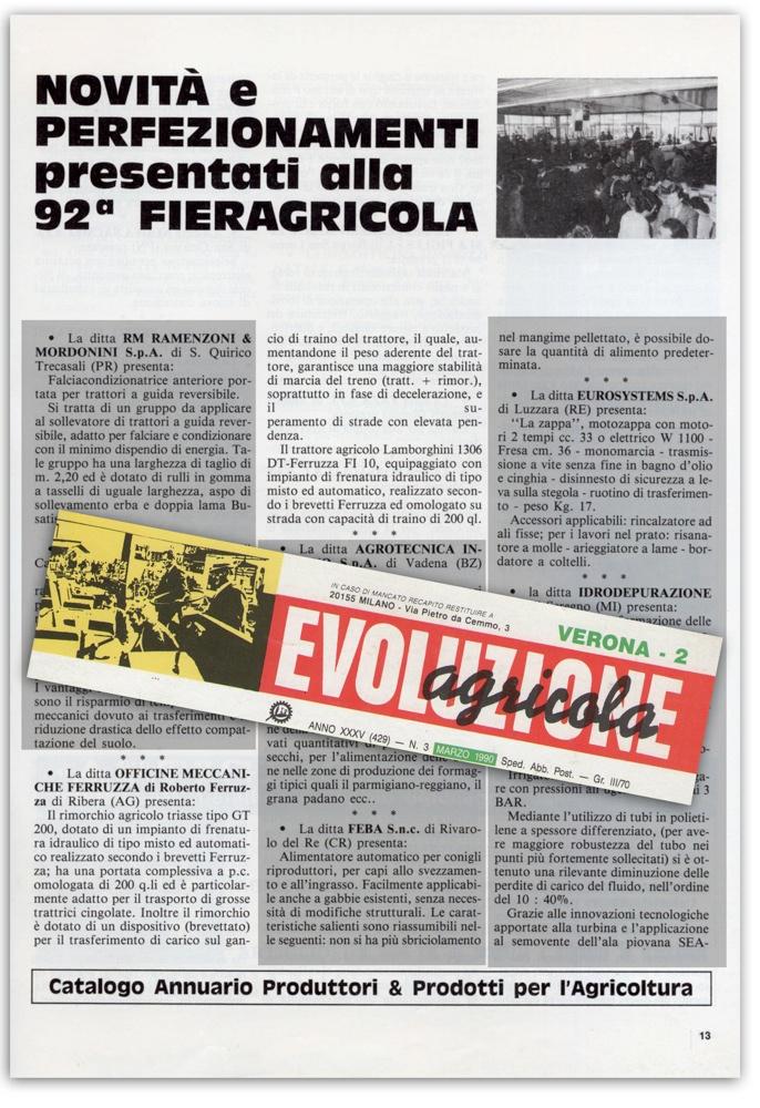 Evoluzione Agricola - Marzo 1990