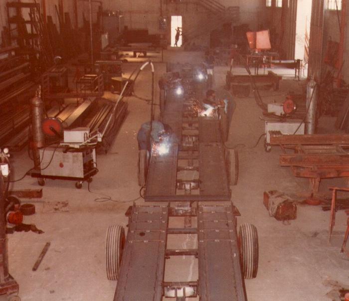 Linea di assemblaggio Serie BG (anno 1978)