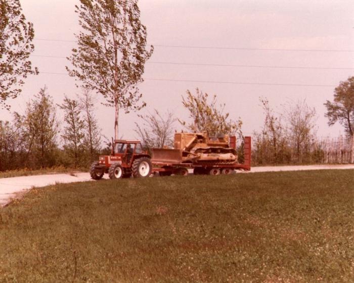 Veicoli per prova sperimentale impianto di frenatura idraulica Ferruzza - Cadriano (BO) anno 1985