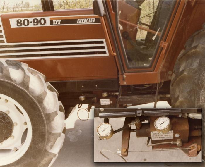 Particolare modulatore frenatura idraulica Ferruzza - Cadriano (BO) anno 1985