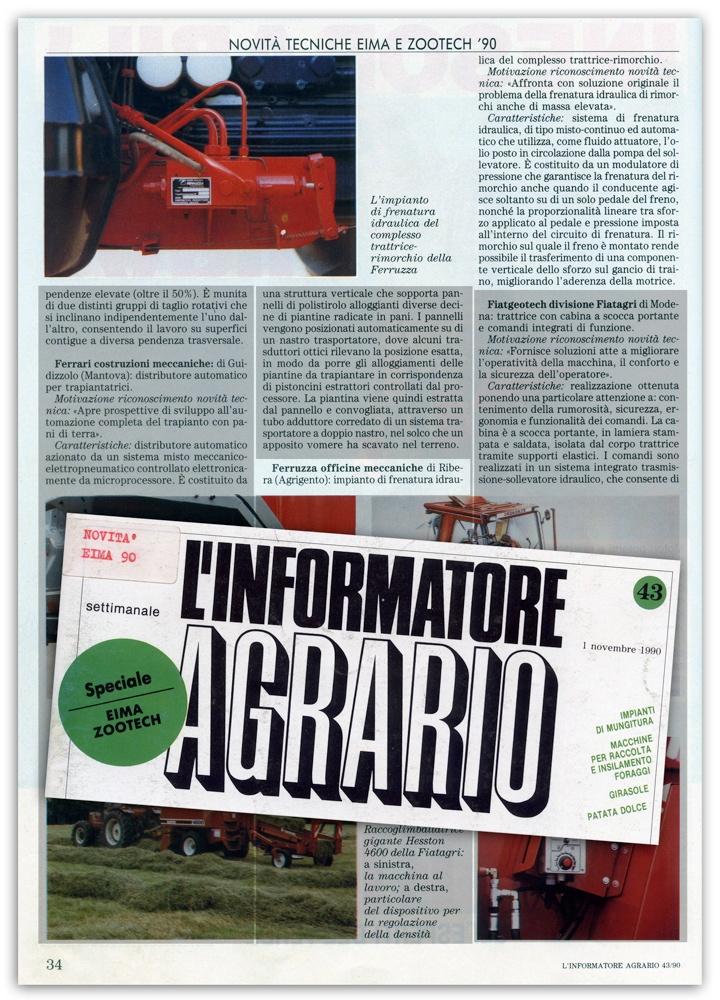L'Informatore Agrario - Novembre 1990
