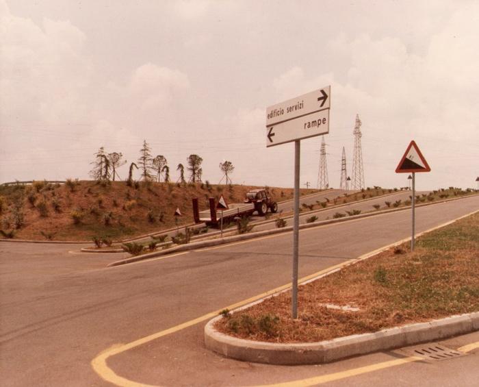 Veicoli per prova sperimentale impianto di frenatura idraulica Ferruzza (Settebagni (RM) anno 1985)